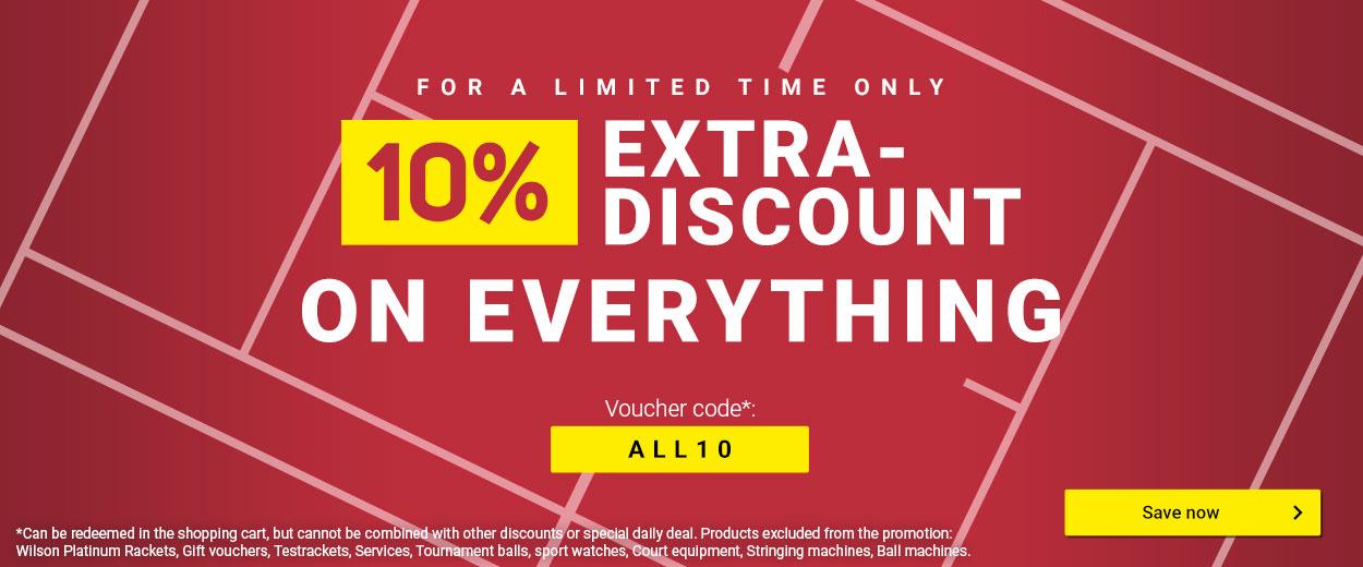 10% on everything