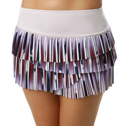 Posh Stripe Pleated Scallop Skirt Women