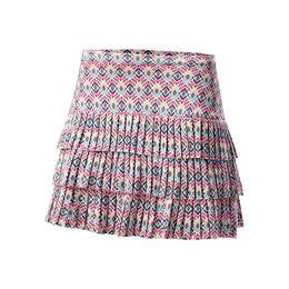 Long Diamond Pleated Skirt