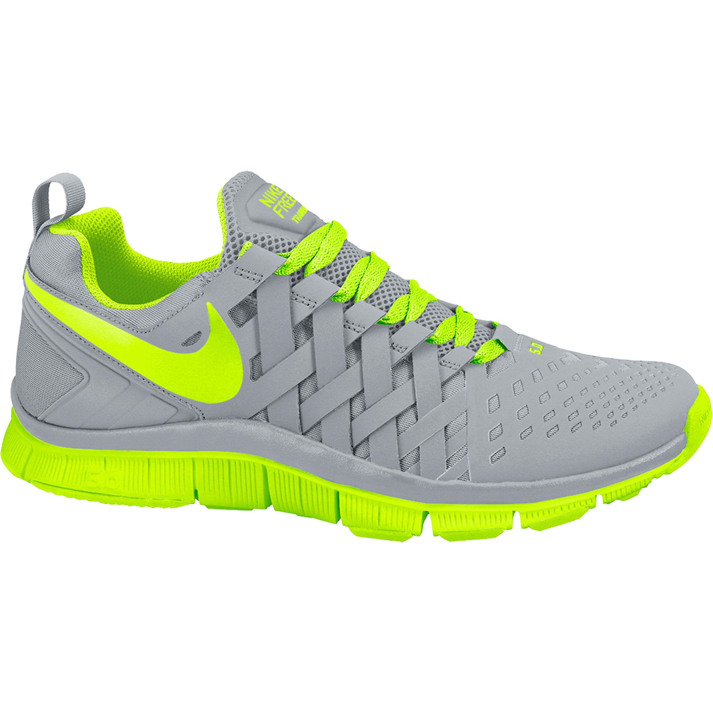 Running Shoe Men - Grey, Neon Yellow