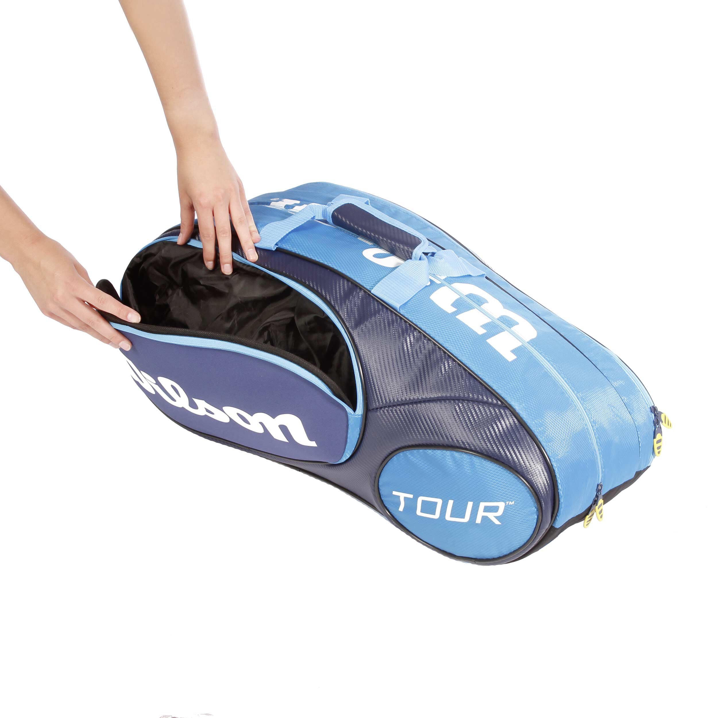 buy Wilson Tour Mini Racketbag Racket Bag 6 Pack Blue