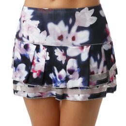 Long Posh Pleat Tier Skirt Women