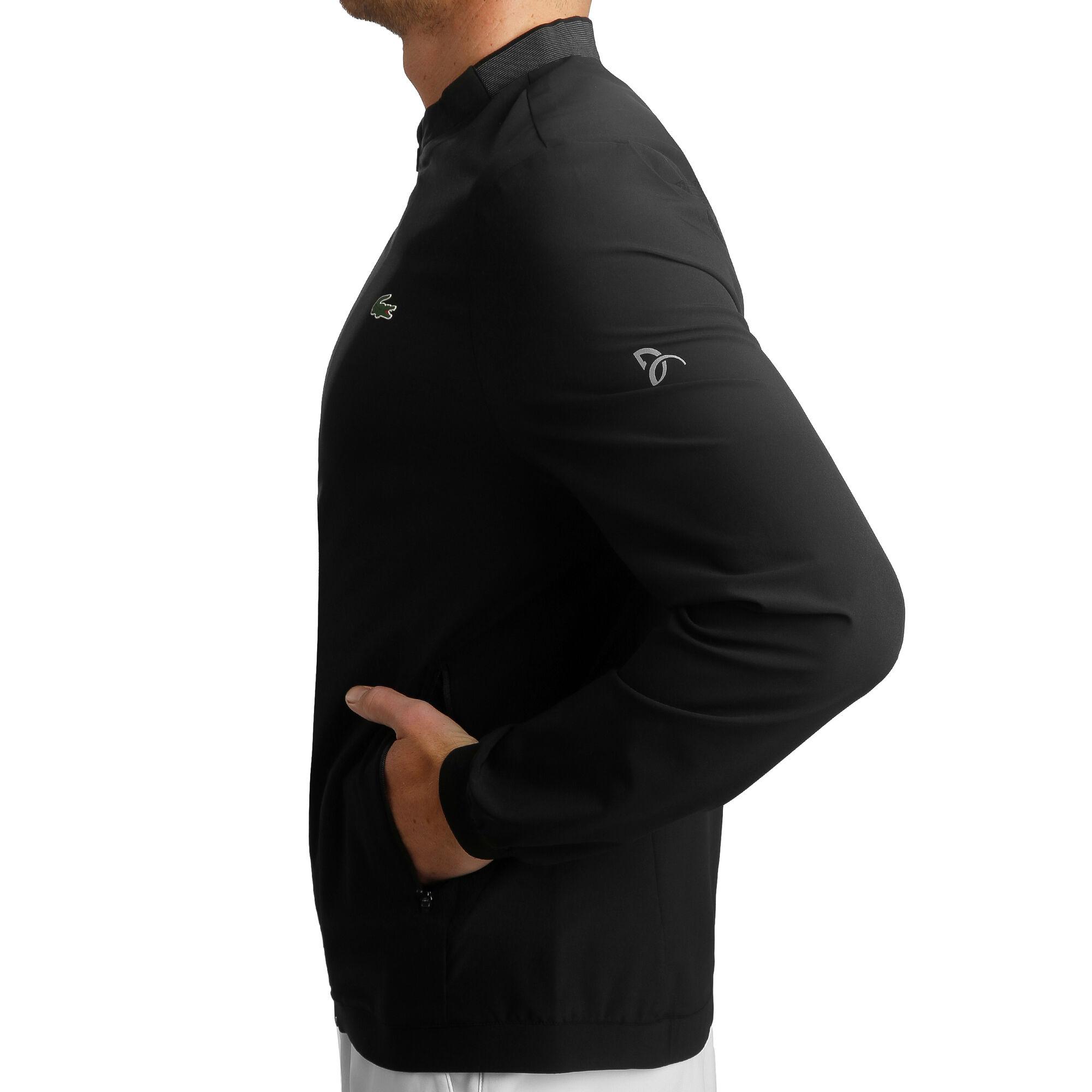 Buy Lacoste Novak Djokovic Training Jacket Men Black Dark Grey Online Tennis Point